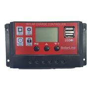 Regulador De Carga P/ Panel Solar 12v 24v 10amper 2xusb