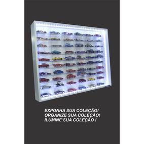Estante Expositor Miniaturas Hot Wheels 60 Nichos Led Marujo
