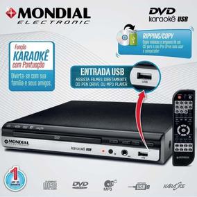 Dvd Player Mondial D15 Entrada Usb Com Karaokê Preto