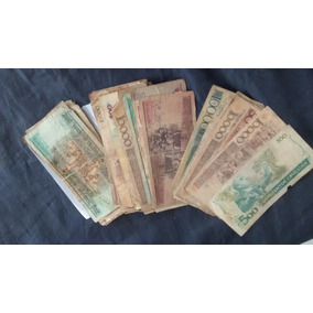 Lote Conjunto De 50 Cédulas Dinheiro Nota Antiga Antiguidade