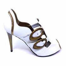 Sapato Feminino Ankle Boot Couro Salto Alto Promoção