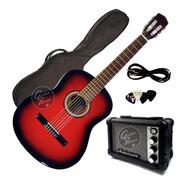 Guitarra Electroacustica Nylon + Ampli + Funda + Pua + Cable