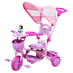Triciclo Con Guía Y Toldo Princesas Xg