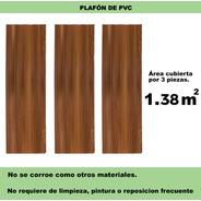 Plafón 3 Piezas De 24cm X 1.95m Panel Pvc Greenline