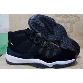 Zapatillas Jordan 11 black Velvet Black White Gold 2017