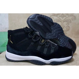 Zapatillas Jordan 11 black Velvet Black White Gold 2017