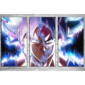 Cuadros Modernos Tripticos Dragon Ball Z Super Goku 90x57