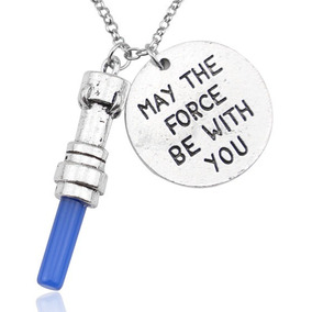 Colar Star Wars - May The Force Be With You Jedi Sabre