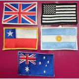 Parches Banderas Bordadas Completamente, Calidad