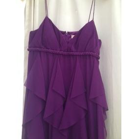 Vestido Largo De Fiesta. Talla 4. Color Morado