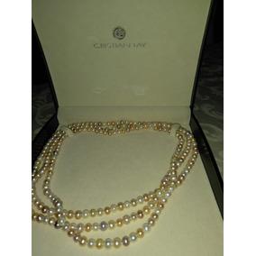 Collar Perlas Cultivadas Con Pulsera Suerte