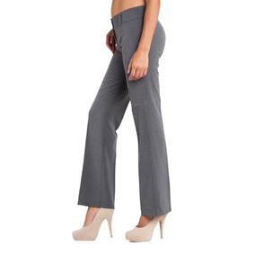 Pantalón Medio Recto Clásico De Mujer - Tela Zara  f83b7ae88981
