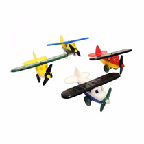 Kit 20 Brinquedo Mini Avião Aviãozinho Plástico Colorido