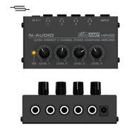 Amplificador De 4 Auriculares N-audio Ha400 Micro Amp