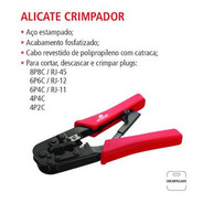 02 Alicates Crimpador Desencapador Rj45 Rj12 Rj11 Worker Par