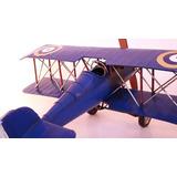 Avion Antiguo En Miniatura Decorativo Chapa