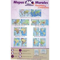 Mapa Planisferio Mural Doble Faz Politico Y Fisico Pol