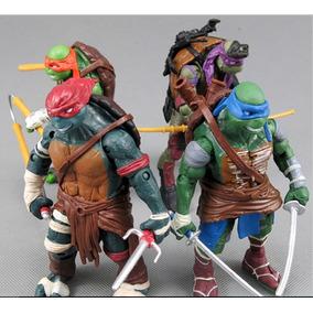 Kit 4 Bonecos Articulados Tartarugas Ninja - O Filme