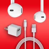 Apple Iphone 6 Audifonos Earpods + Cable + Cargador Original
