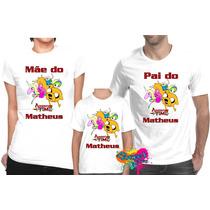 Kit 3 Pç Camisa Personalizada Para Festa Hora Da Aventura A4
