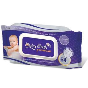 Lenços Umedecidos 64 Un. - Baby Bath Premium
