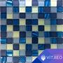 Mosaicos Decorativo Vidrio Malla Azul Gris Blanco Bañococina