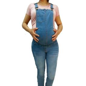 Overol De Maternidad En Mezclilla Strech.