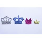 Corona Goma Eva Brillantina Souvenir Baby Shower Nacimiento