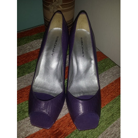 Zapato Dama 39 Lila Cuero Nuevo
