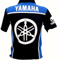 Camiseta Camisa Masculina Gola Polo Esportiva Moto Yamaha