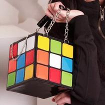 Bolsa Clutch De Mano Para Dama En Forma De Cubo Rubik M2169