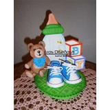 Centro De Mesa Varon Baby Shower Recuerdo Nacimiento