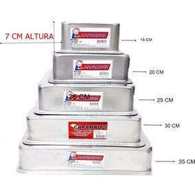 Kit Com 5 Formas Sem Emendas 7 Cm Altas Quadradas Bolos