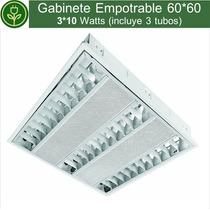 Gabinete Empotrable 60*60cm 3*10w (incluye Tubos Led)