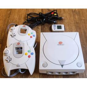 Dreamcast + 2 Controles + Vmu + 05 Jogos