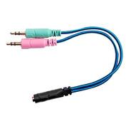 Adaptador Audio Miniplug 3,5mm A Mic Y Auricular Pc Nisuta