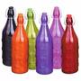 Garrafa De Vidro Colors Maçã Para Água Com Tampa 1 Litro