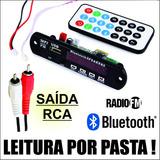 Leitor De Usb Para Caixa De Som Com Bluetooth E Cabo Rca