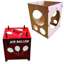 Inflador Compressor Para Baloes, Bexigas, 4 Bicos + Medidor