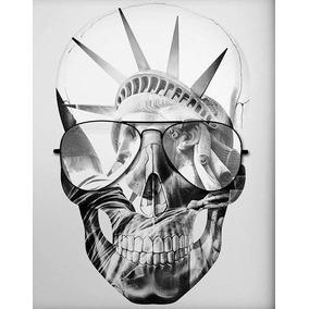 Quadros Decorativos Arte Impressa Caveira New York