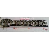Emblema Letras Cromadas Toyota Meru Machito Burbuja Autana