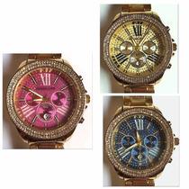 Relógio Feminino Estilo Mk Super Oferta Vários Modelos