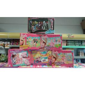 Kit Com 6 Quebra -cabeças Monster High Polly E Barbie
