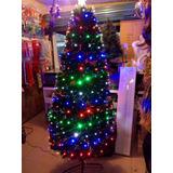 Arbol De Navidad 1.80 Fibra Optica + Led Multicolor Navideño