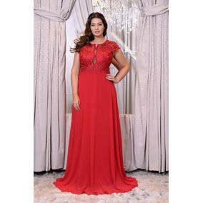 Vestido Vermelho Plus Size/madrinha/casamento/formatura
