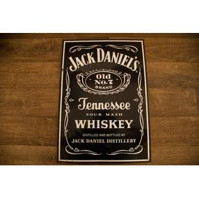 Placa De Lata Antiga Propaganda Jack Daniel