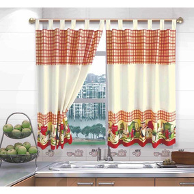 Telas Para Cortinas De Cocina Modernas Decoracion Para El Hogar En - Telas-de-cocina