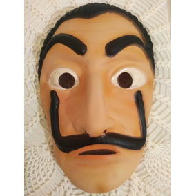 Máscara La Casa De Papel Emborrachada E Plástico Em 3d