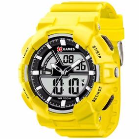 Relógio X-games Masculino X-mppa161 Amarelo