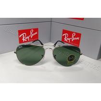 Lentes De Sol Ray Ban Aviator Rb3025 Silver/green